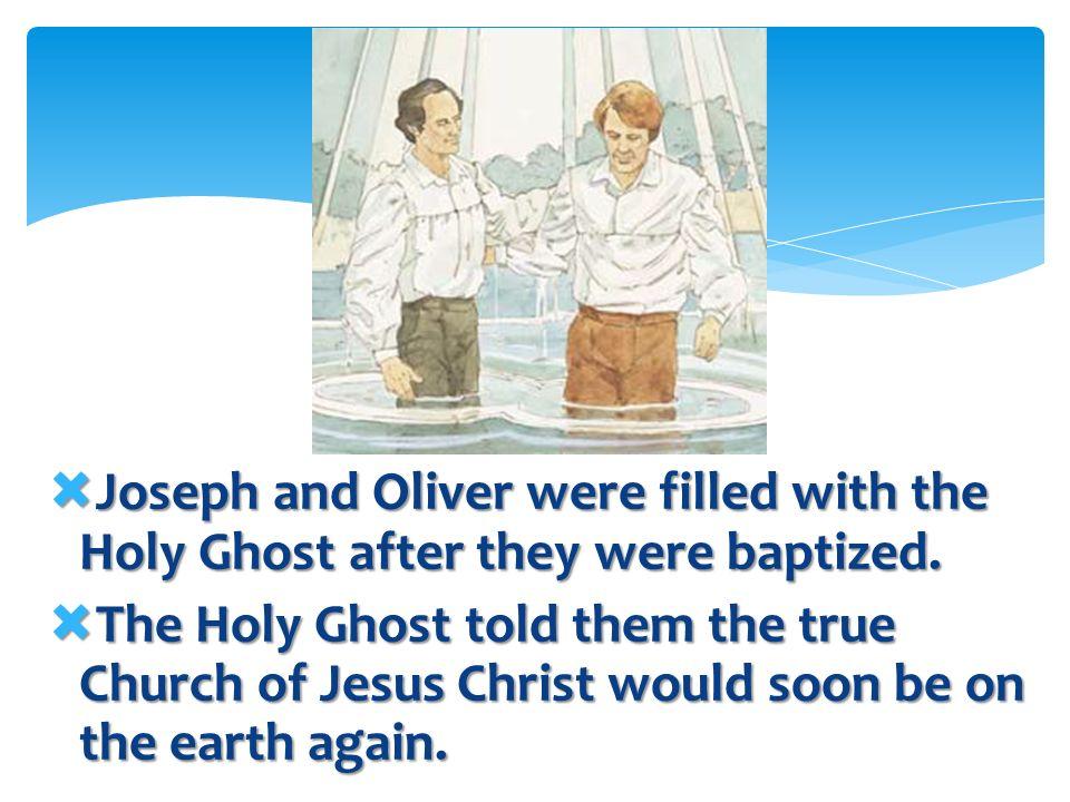 Long ago, John the Baptist had baptized Jesus the same way.