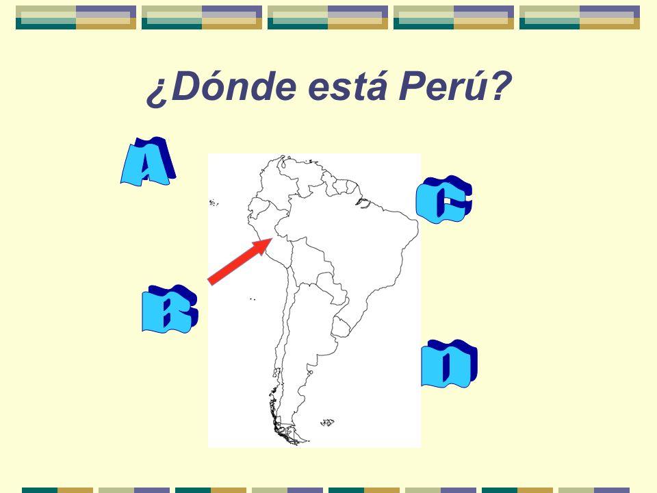 ¿Dónde está Perú?