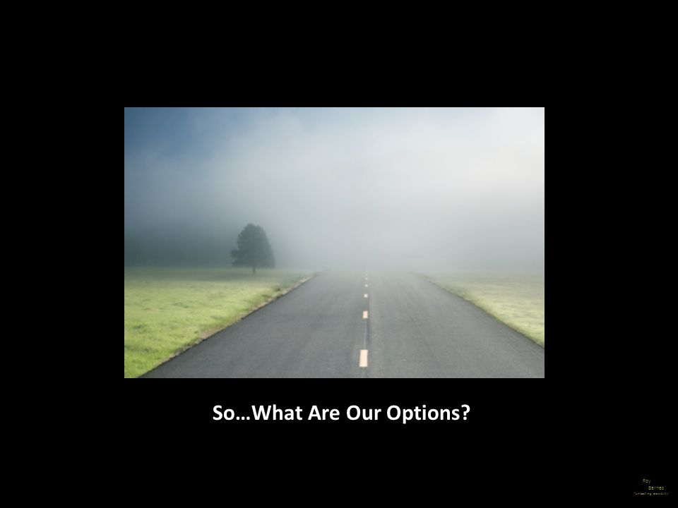 Roy Barnes unleashing possibility So…What Are Our Options?