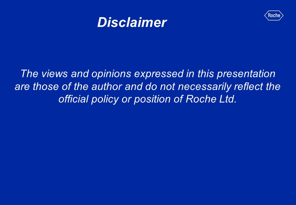 Disclaimer The views and opinions expressed in this presentation are those of the author and do not necessarily reflect the official policy or positio