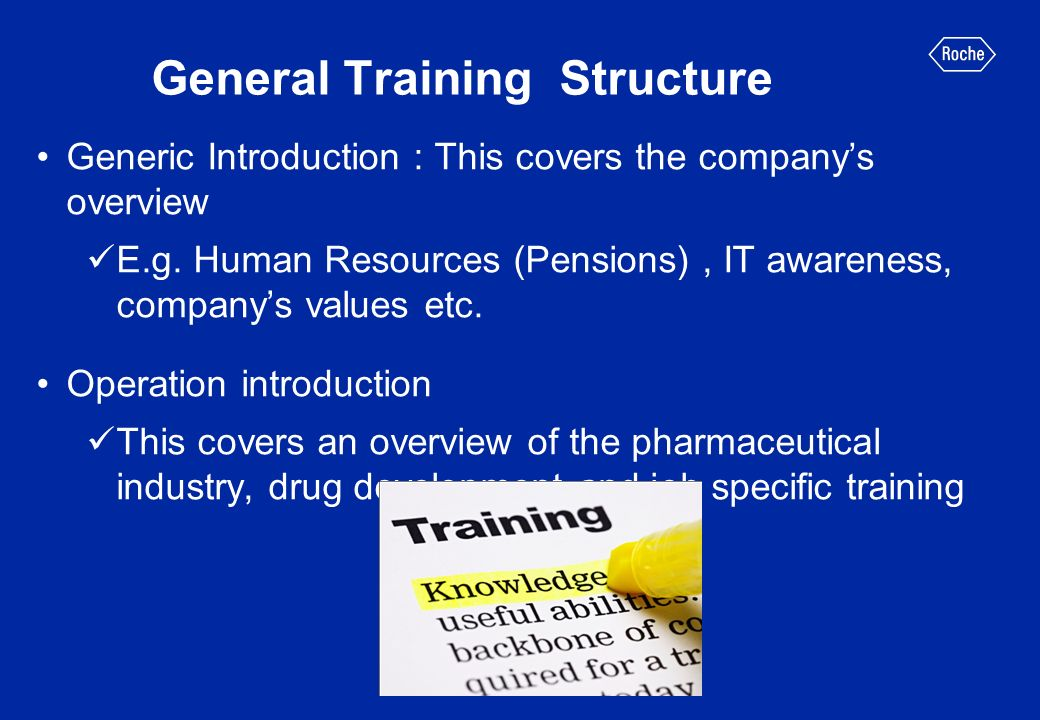 Industry Background The operation introduction training usually covers: The drug development process and the steps involved in clinical research The principles of clinical trials The importance of a trial protocol The different regulatory bodies of clinical trials Standard Operating Procedures (SOPs) which are detailed written instructions to achieve uniformity of the performance of a specific function [1]