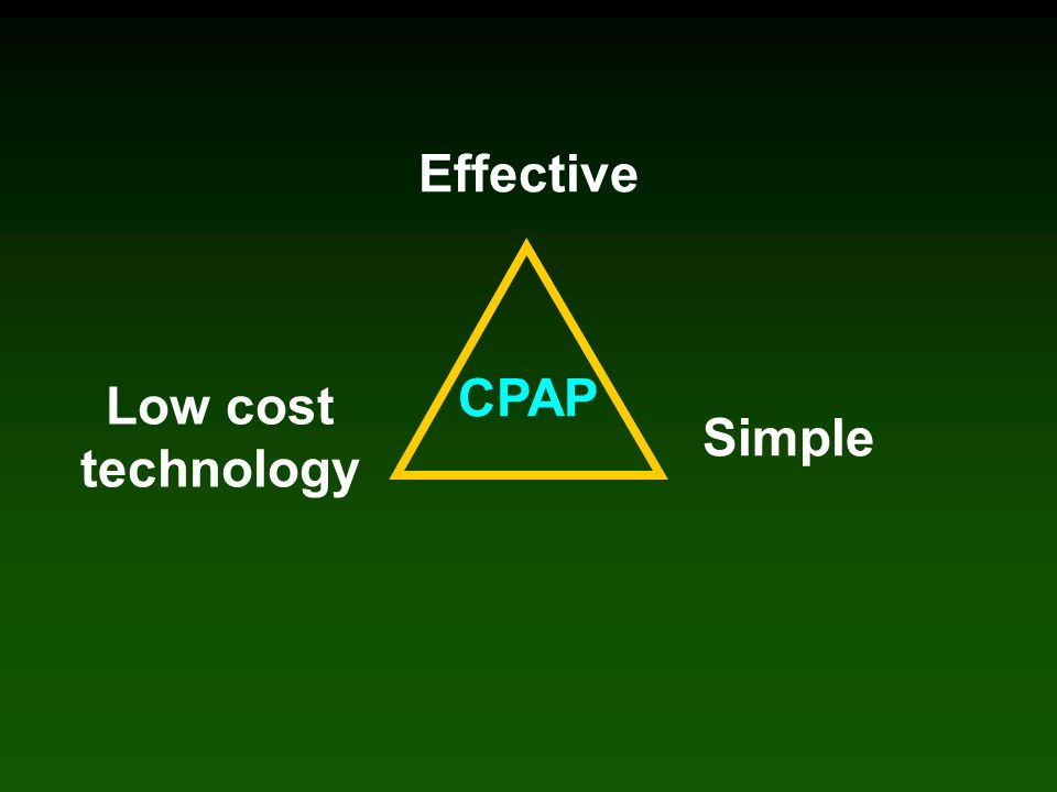 Effective Simple Low cost technology CPAP