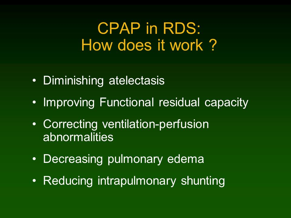 CPAP In RDS: guidelines