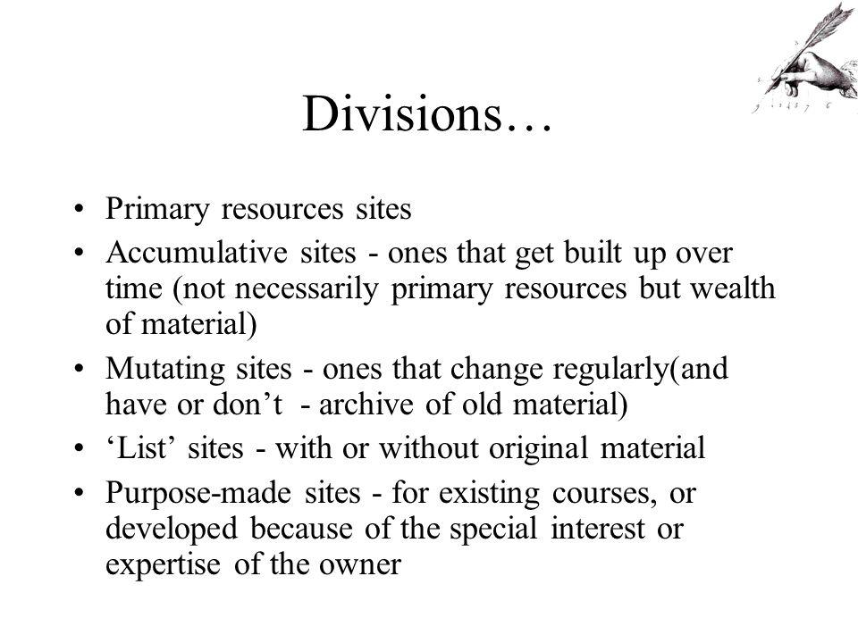 Primary resources site