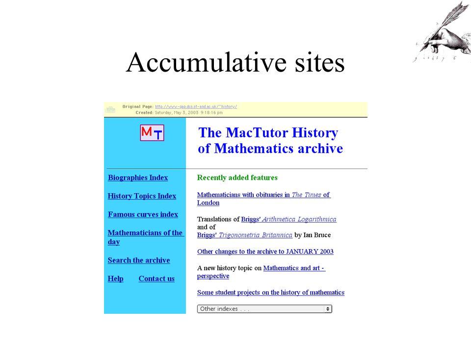 Mutating sites