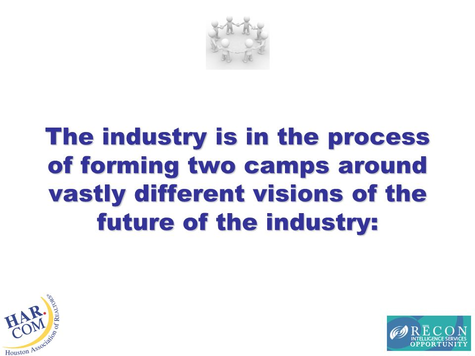 The industry is in the process of forming two camps around vastly different visions of the future of the industry: