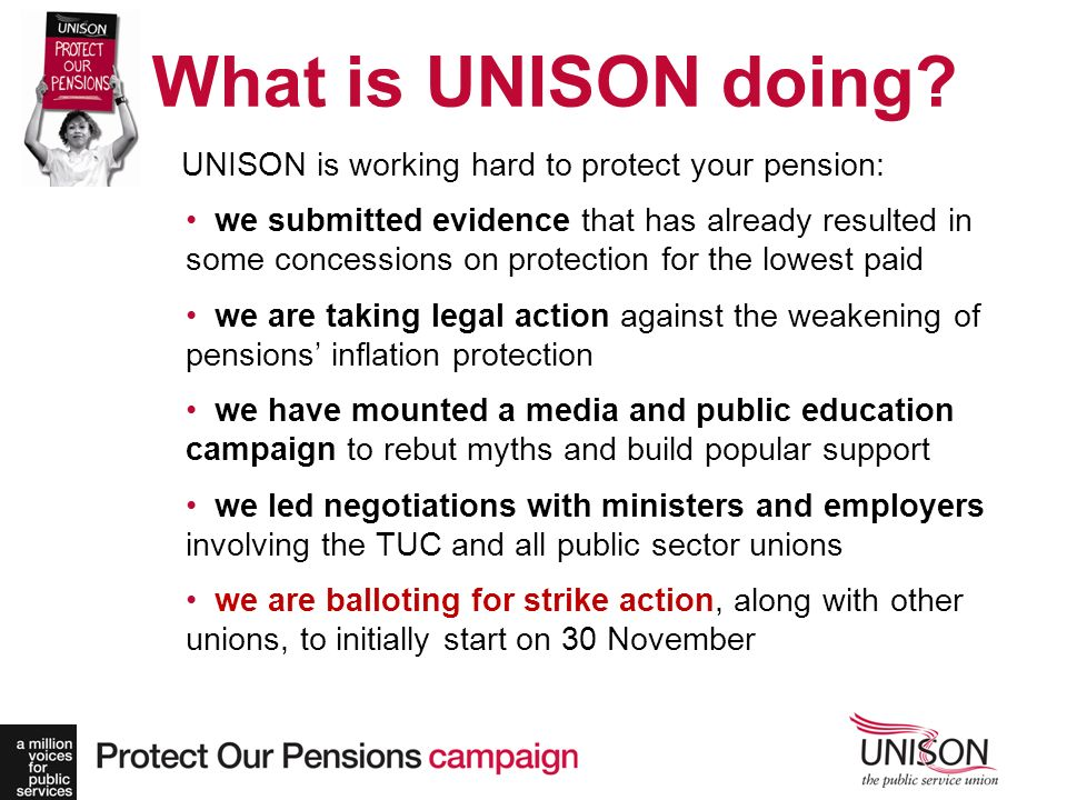 What is UNISON doing.