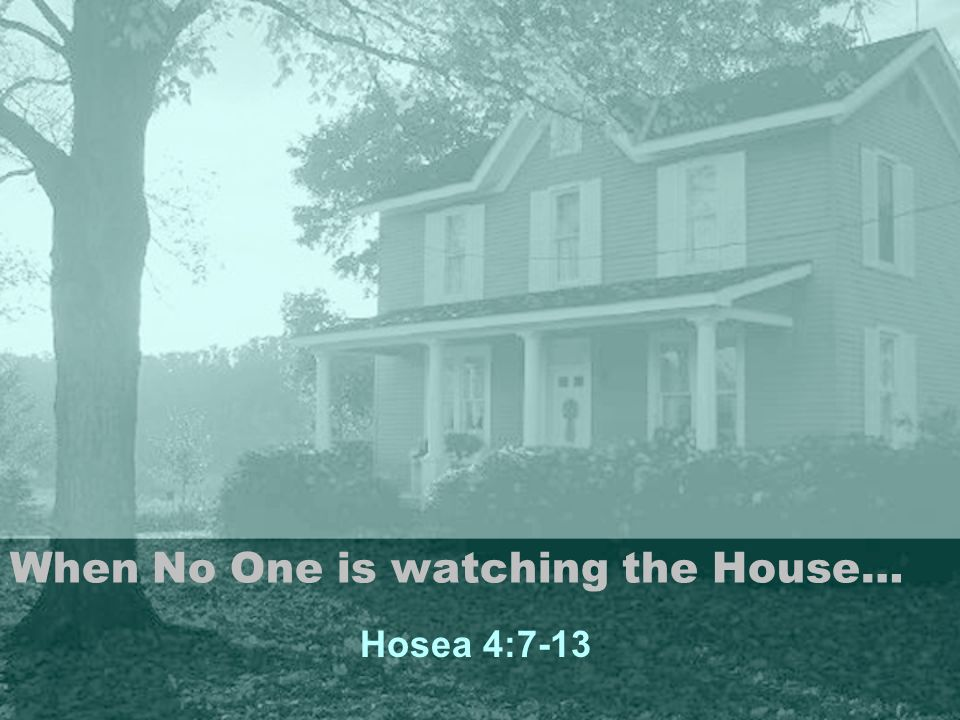 Scripture Hosea 4:7-13 (NIV) 7 The more the priests increased, the more they sinned against me; they exchanged their Glory for something disgraceful.