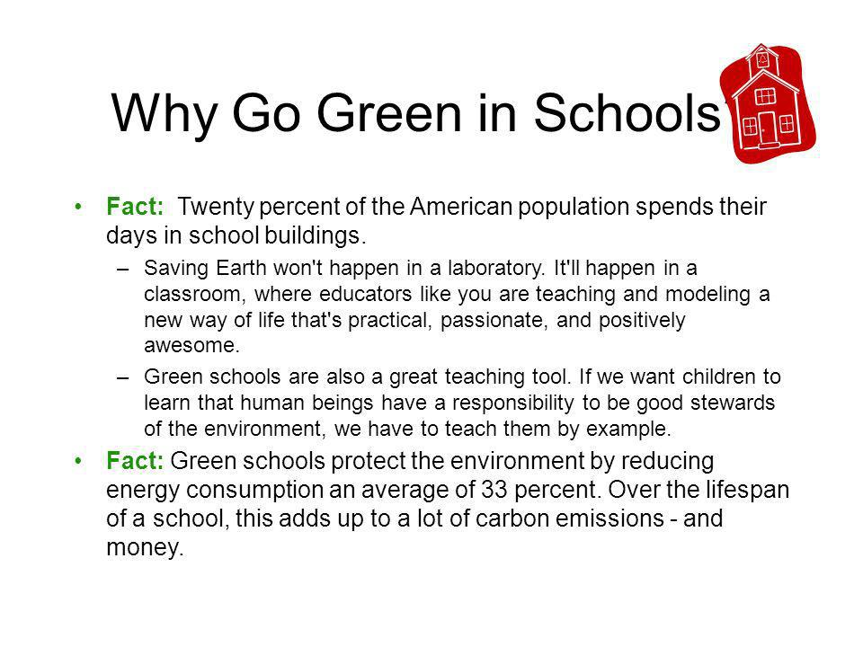 Why Go Green in Schools.