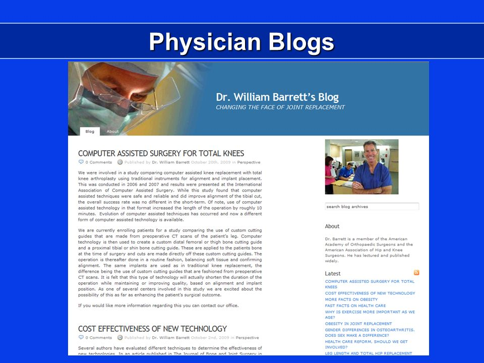 Physician Blogs
