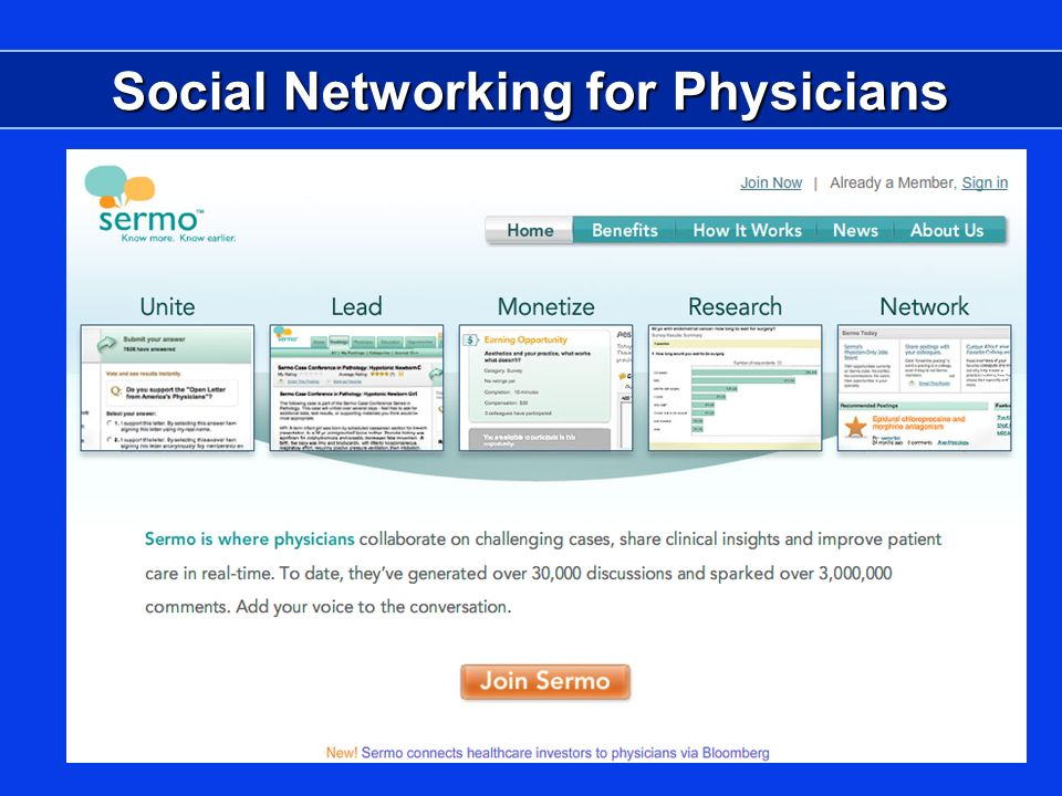 Social Networking for Physicians