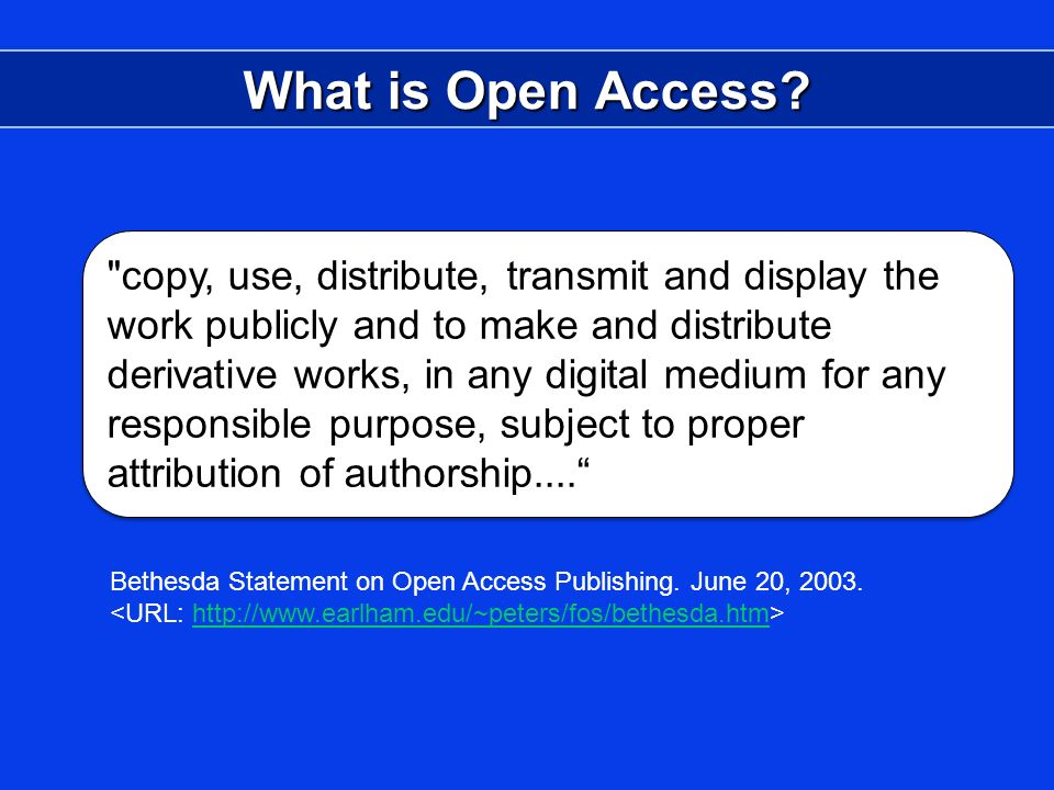 What is Open Access.