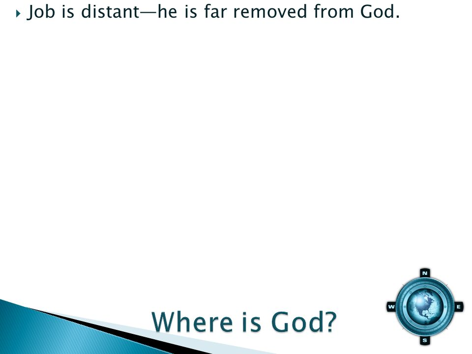 Job is distanthe is far removed from God.
