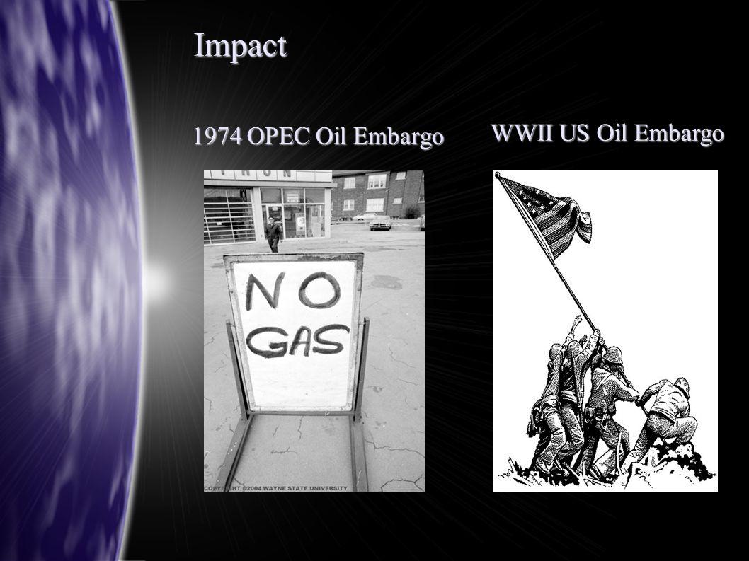 Impact 1974 OPEC Oil Embargo WWII US Oil Embargo