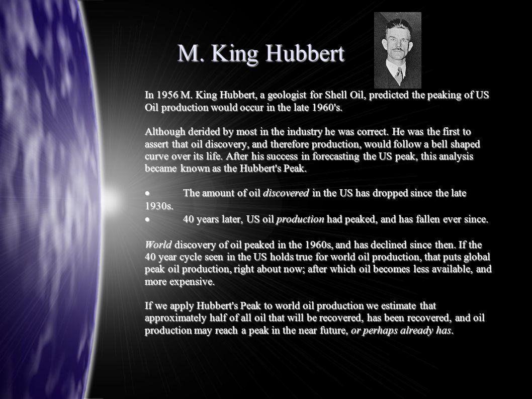 M. King Hubbert In 1956 M.