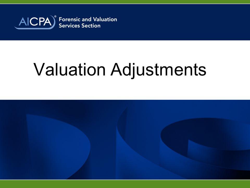 Valuation Adjustments