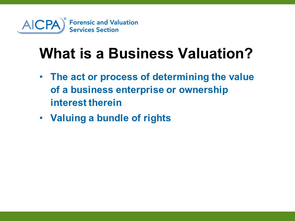 What is a Business Valuation.