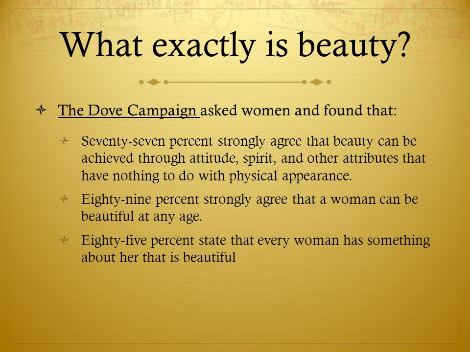 What exactly is beauty.