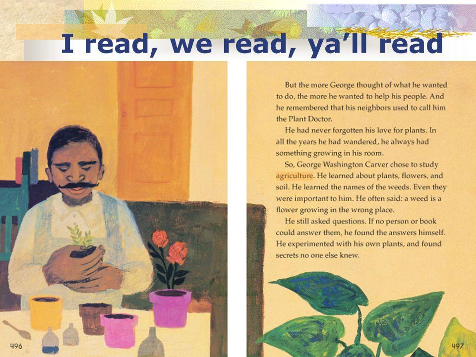 I read, we read, yall read