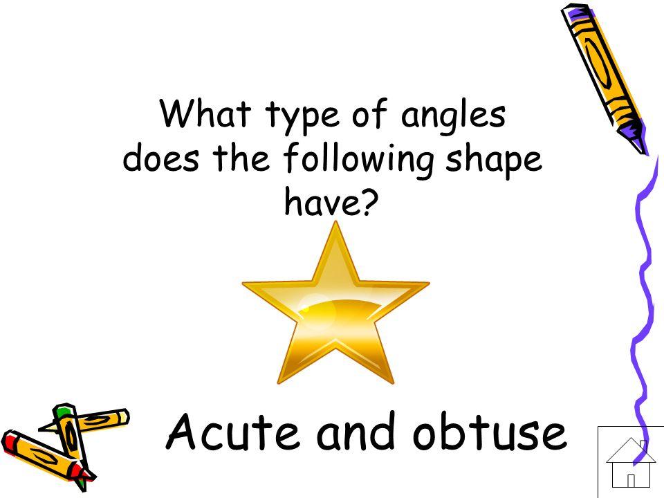 Name the angle. Obtuse angle