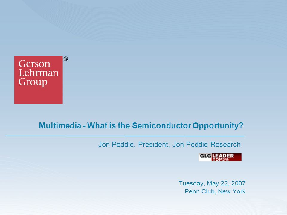 Multimedia - What is the Semiconductor Opportunity.