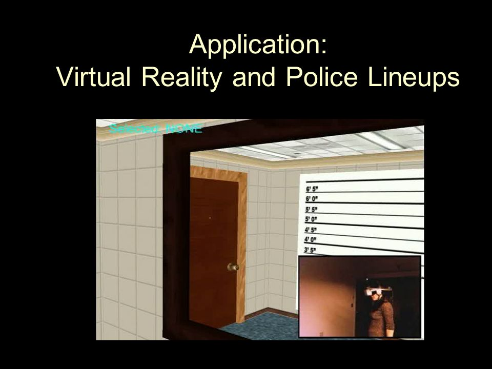 Application: Virtual Reality and Police Lineups
