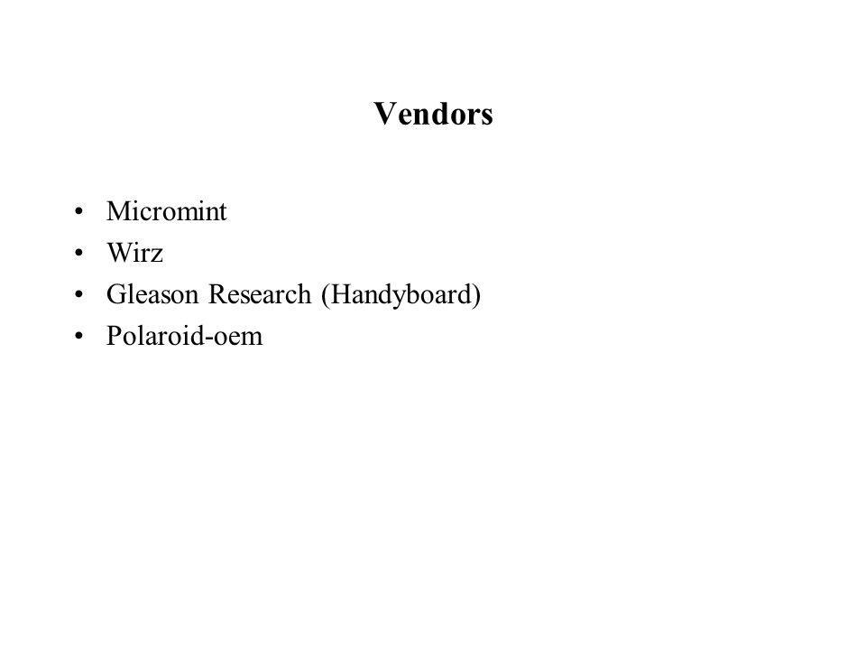 Vendors Micromint Wirz Gleason Research (Handyboard) Polaroid-oem