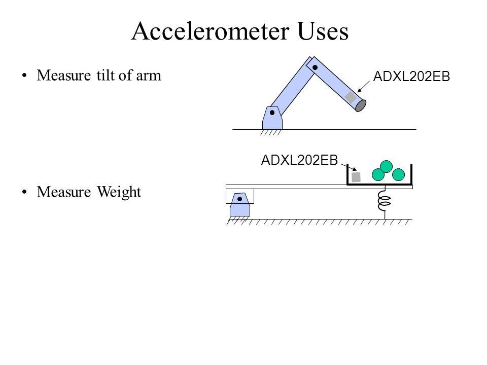 Accelerometer Uses Measure tilt of arm Measure Weight ADXL202EB