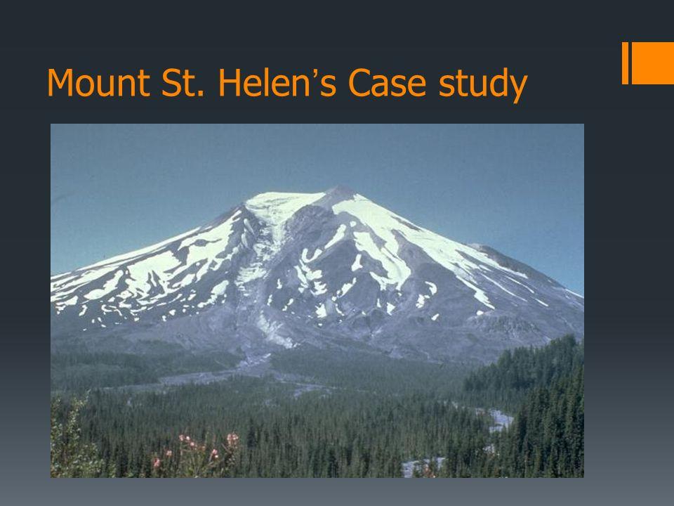 Mount St. Helens Case study