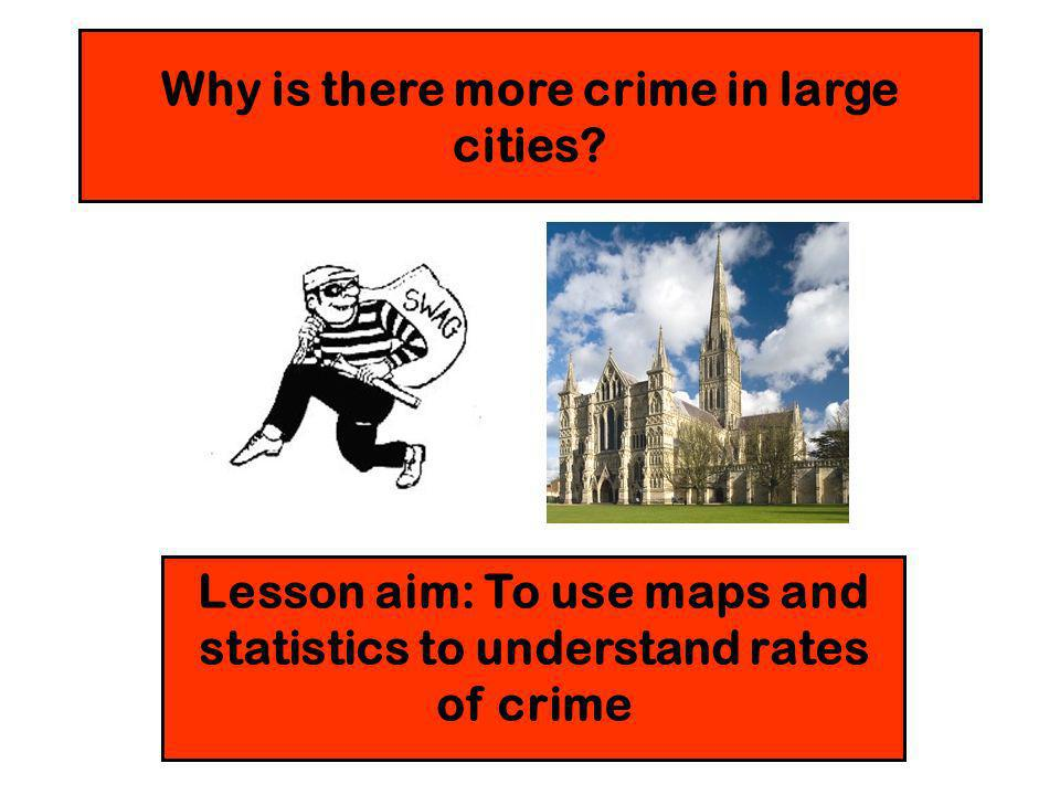 Why is there more crime in large cities.