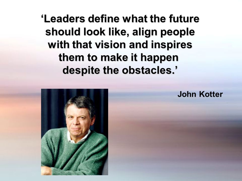 Leaders define what the future should look like, align people should look like, align people with that vision and inspires them to make it happen desp