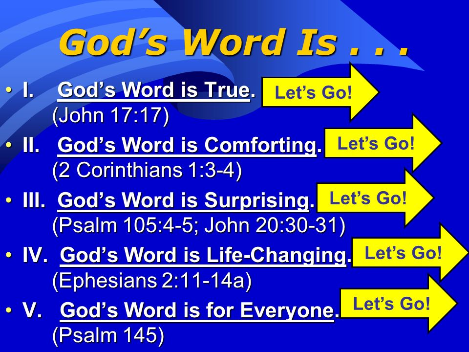 The Centrality of Gods Word As followers of Christ, the Bible stands at center stage of what we believe and teach.As followers of Christ, the Bible st