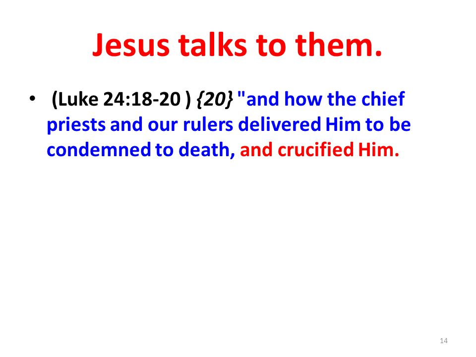 Jesus talks to them.