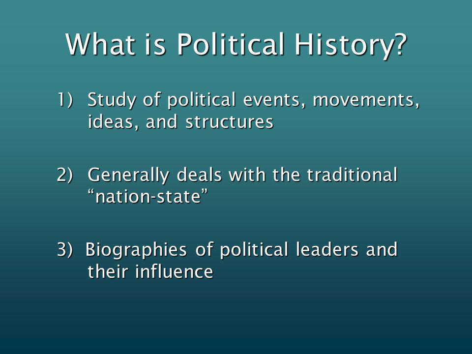 What is Political History.