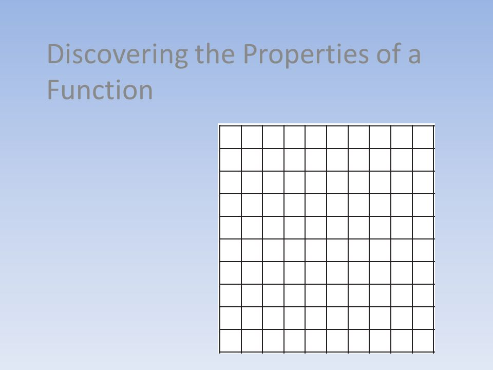 Discovering the Properties of a Function