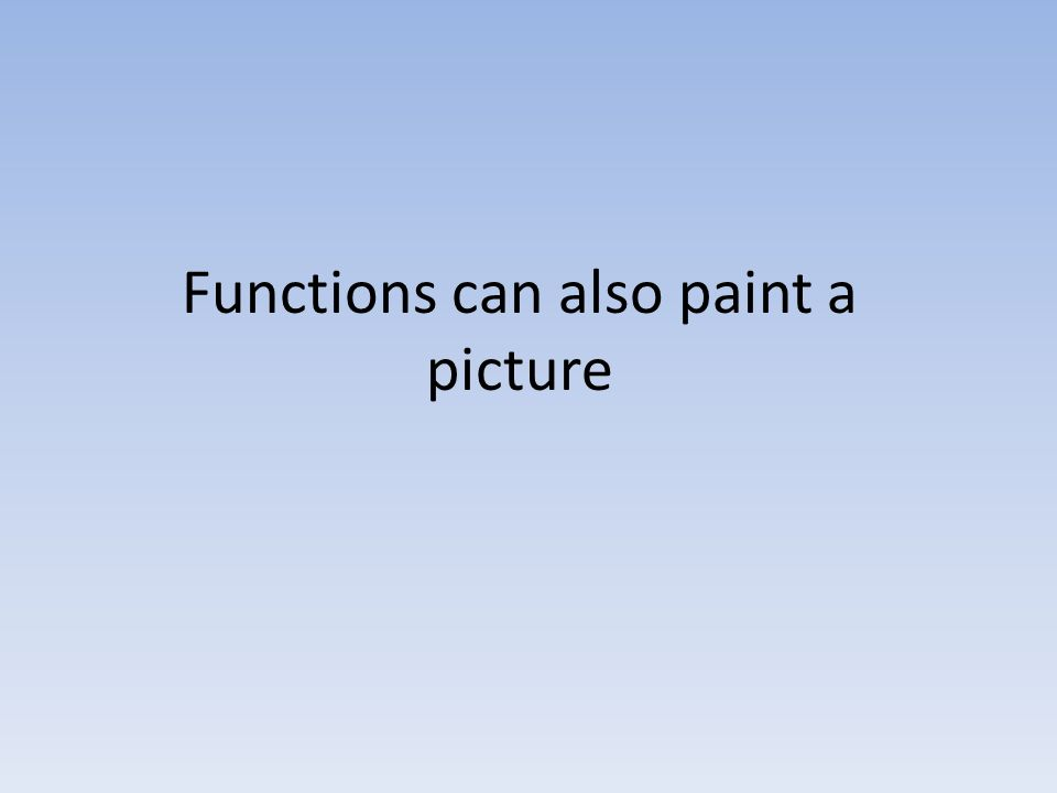 Functions can also paint a picture