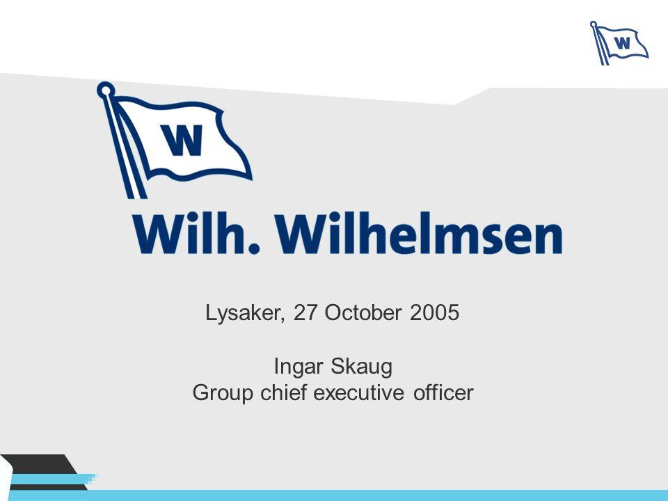 Lysaker, 27 October 2005 Ingar Skaug Group chief executive officer