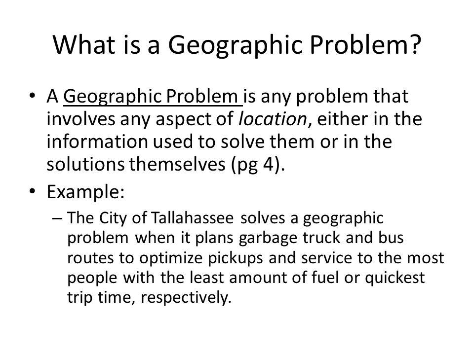 Why Use GIS.
