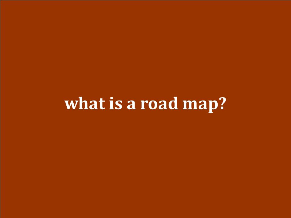 what is a road map