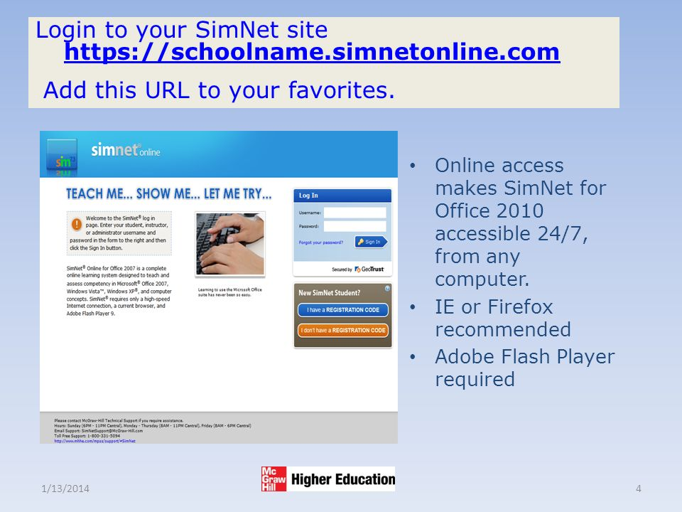1/13/20144 Login to your SimNet site     Add this URL to your favorites.
