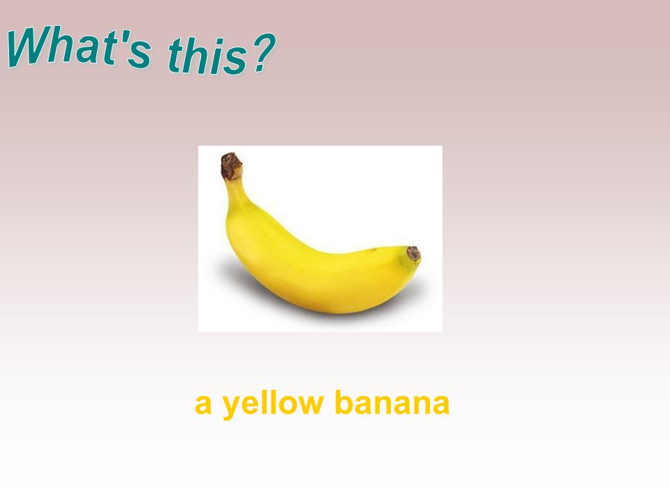a yellow banana