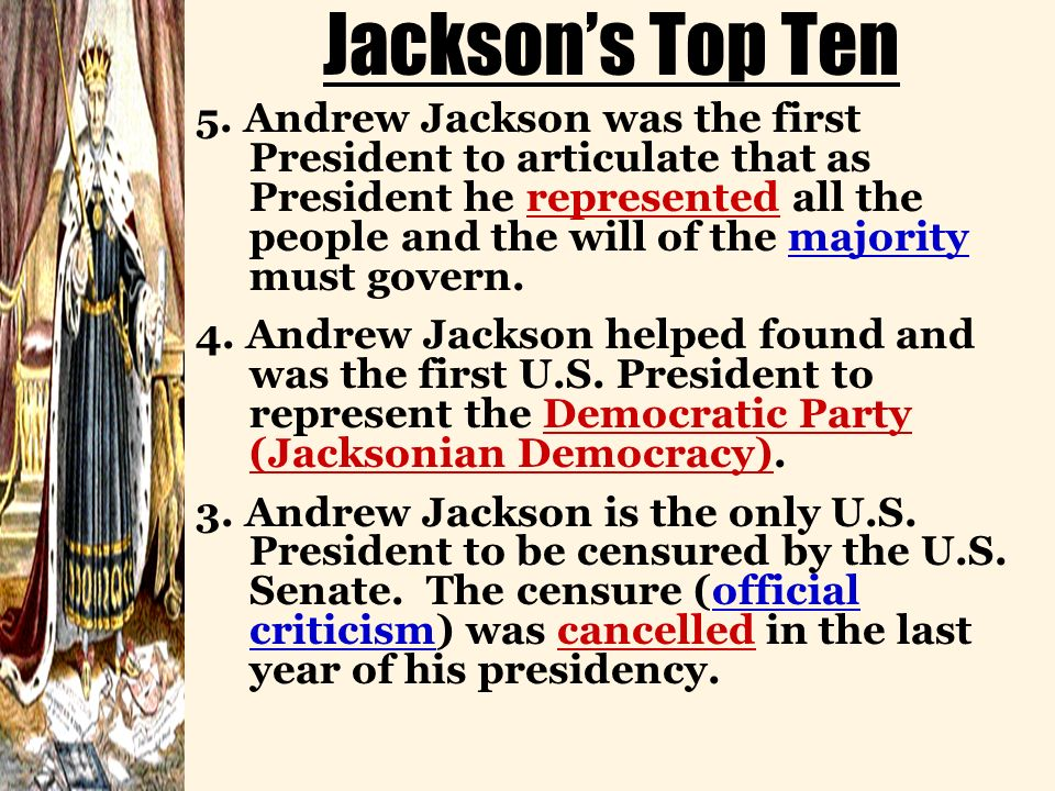 Jacksons Top Ten 5.