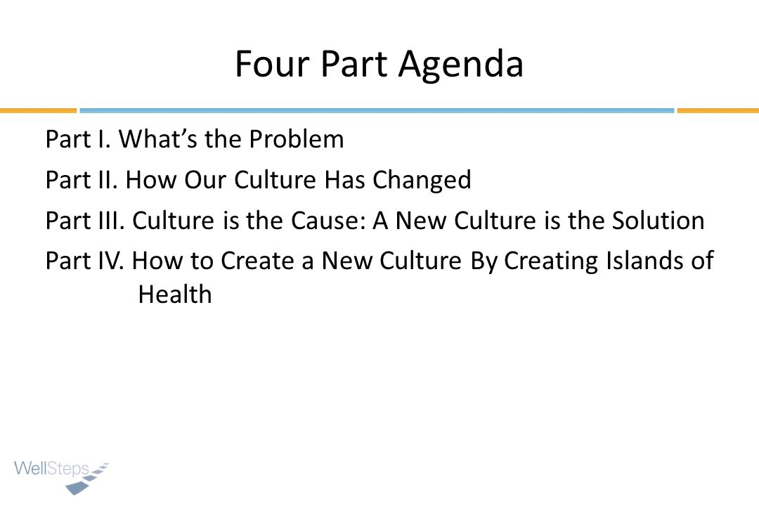 Four Part Agenda Part I. Whats the Problem Part II.