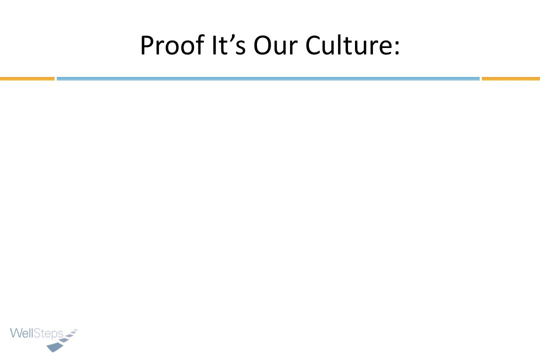 Proof Its Our Culture: