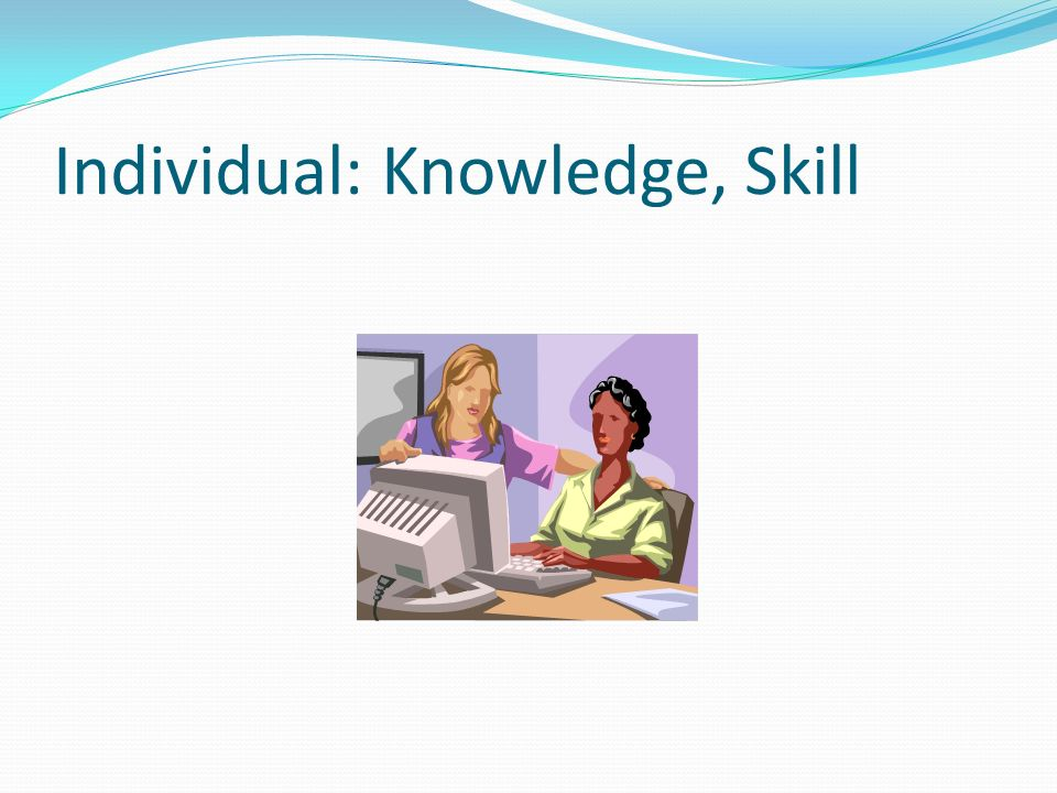 Individual: Knowledge, Skill