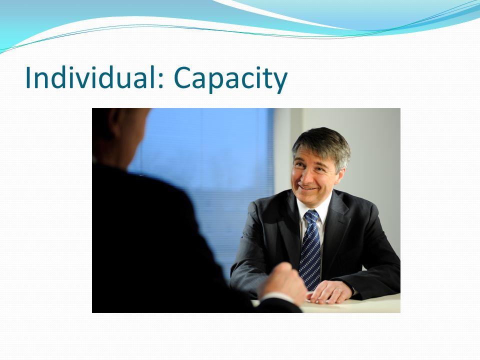 Individual: Capacity