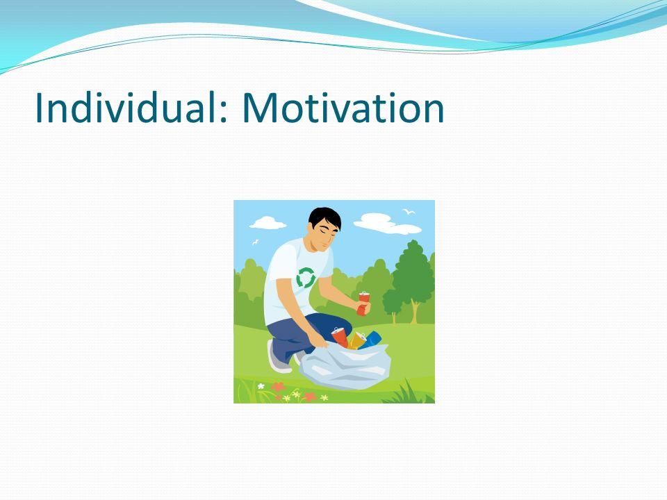 Individual: Motivation
