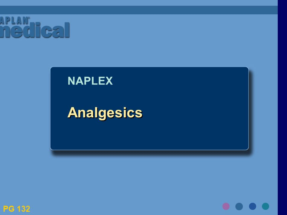 Analgesics NAPLEX PG 132
