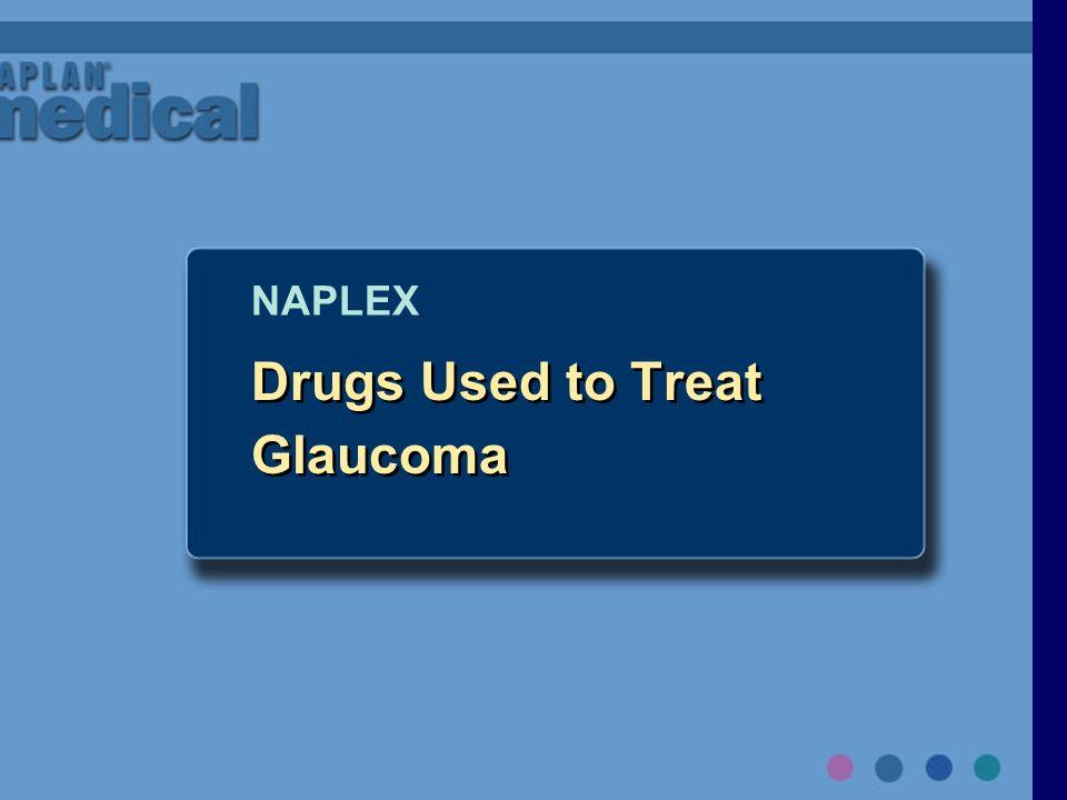 Drugs Used to Treat Glaucoma NAPLEX
