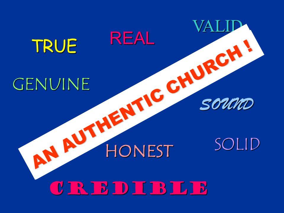 The New Testament describes a describes a Church that was -- The New Testament describes a describes a Church that was --